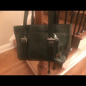 Etienne Aigner Green Leather Purse Bag